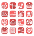 color travel icons vector image vector image
