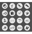 beach icon set vector image