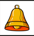 color sketch bell vector image