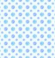 Blue soft polka dot seamless pattern vector image
