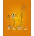 halloween backgrounds with ghost vector image vector image