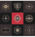 Set of Monogram logo template vector image vector image