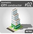 Isometric city constructor - 02 vector image