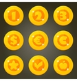 Gold Coin With Currency Emblems vector image