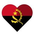 Angola flat heart flag vector image