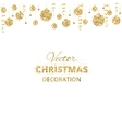 Background with hanging christmas balls and vector image