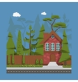 Country family house vector image