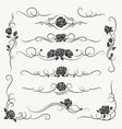 flourish roses decorative ornaments vector image