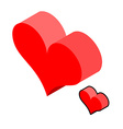Isometric Heart on white background love symbol vector image