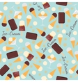 Seamless pattern with ice creams isolated on blue vector image