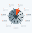 infographic temlate with hendecagon 11 options vector image