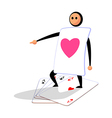 icon card man vector image vector image