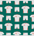 Soccer uniform template seamless pattern football vector image