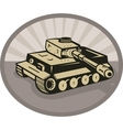 German panzer battle tank aiming cannon vector image