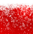 Red Snowflake Background vector image vector image