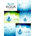 Water concepts design collection vector image