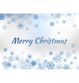 Vintage Christmas Greeting Card On Winter vector image