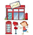 Postal vector image vector image