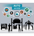Auto Service Concept Background vector image