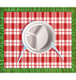 paper picnic plate vector image
