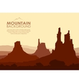 Sunset in huge Mountains vector image