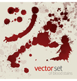Splattered blood stains set 4 vector image vector image