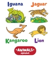 Animals alphabet or ABC vector image