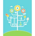 Concept Tree Education and Growth vector image