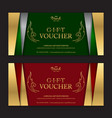 gold and silver gift voucher or gift certificate vector image