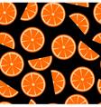 Orange flower on black background vector image