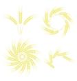 Set of Wheats Frames vector image