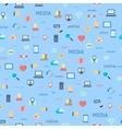 Social network seamless vector image