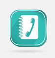 square icon phone address book vector image