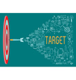 Target with doodles vector image