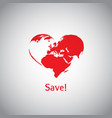 the heart world - save vector image