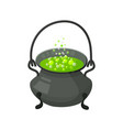 halloween witch s cauldron with potion halloween vector image