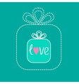 Small gift box in the big gift box Dash line Flat vector image