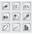 Car part and service icons set 4 vector image vector image