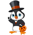 Halloween Penguin vector image