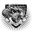 monster truck shield vector image