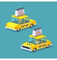 Cube World Yellow taxi vector image