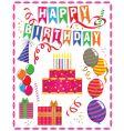 Birthday ornaments vector image
