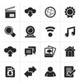 Black Internet and website icons vector image