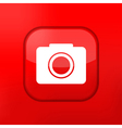 Glossy red misc icons vector image