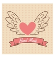 Hand Made label handmade crafts workshop vector image