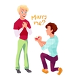 Marriage proposal in gay couple vector image