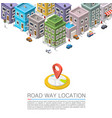 road in the cityscape isometric city location vector image