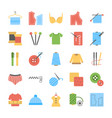 sewing and needlework flat icons set vector image