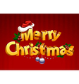 Three-dimensional gold christmas typography vector image vector image