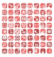 big color travel icons vector image vector image